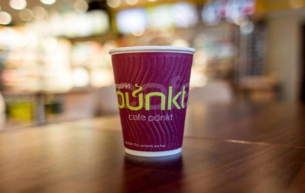 APOGEUM - CAFE PUNKT koncepcja marki na kubku