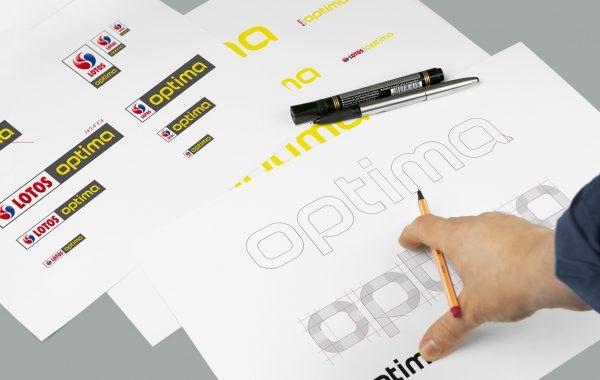 APOGEUM OPTIMA identyfikacja wizualna faza projektowania znaku